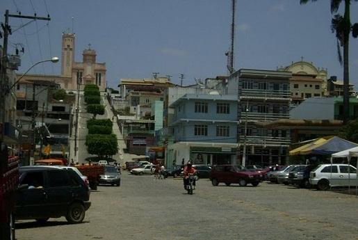 Centro comercial da cidade de Jaguaquara (ilustração)