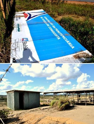 Construção da Penitenciária de Conquista não vai além da previsão (fotos Blog do Anderson)