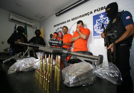 Segundo a polícia, a quadrilha se preparava para roubar R$ 8 milhões de um carro-forte na cidade de Ipiaú (foto SSP/VBA)