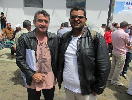 Fernando D'Emídio, presidente da Comissão Pró Emancipação ao lado de Sérgio Sioli (Rádio Itiruçu FM)