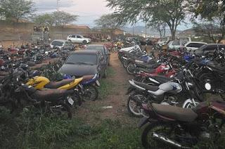 O último leilão de veículos retidos na 7ª Ciretran de Jequié foi em setembro de 2011