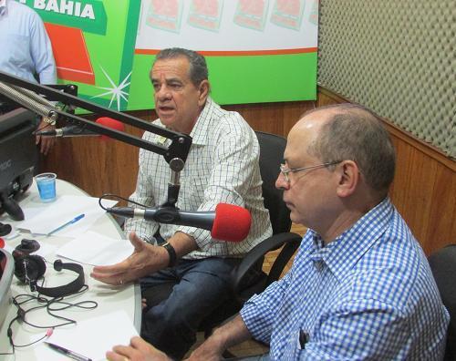 No estúdio da 93 FM Euclides Fernandes e Roberto Britto trocaram amabilidades e mútuos elogios