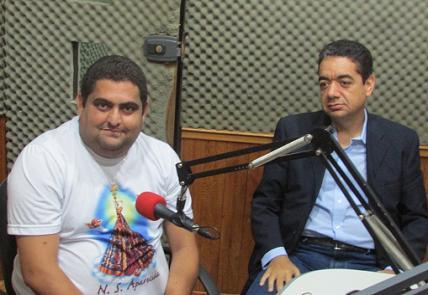 Vereador Deyvison Batista com o advogado Luciano Sepúlveda, na 93 FM