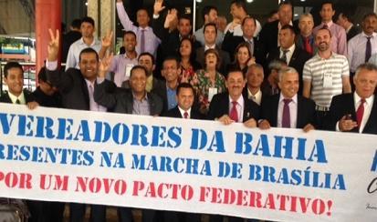 Cerca de 200 vereadores da Bahia participaram da Marcha em Brasília encerrada na sexta, 29