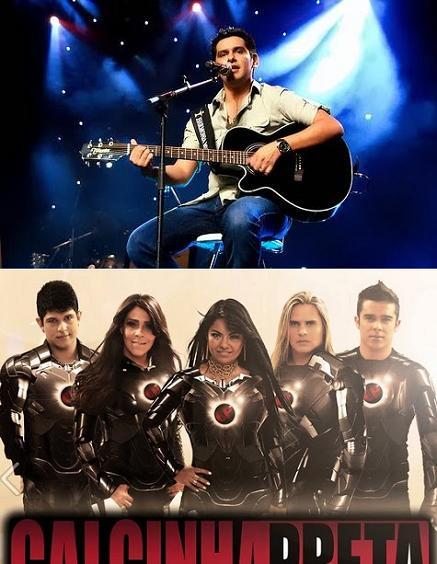 O cantor Léo Magalhães e a banda Calcinha Preta se apresentarão na noite de 21/6 na Praça da Bandeira