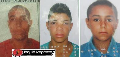 Três das cinco vítimas fatais do acidente - Erinaldo e os menores Gabriel e Arlan (fotos montagem documentos)