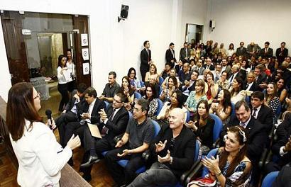 Juízes baianos presentes ao lançamento da campanha em Salvador (foto Margarida Neide/ Ag. A Tarde)