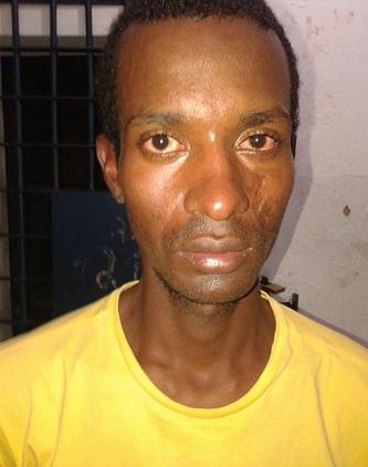 Sidney Santos, preso na Praça da Bandeira (foto 19º BPM)