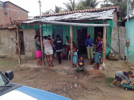 Casa onde a criança morava no Bairro KM 3
