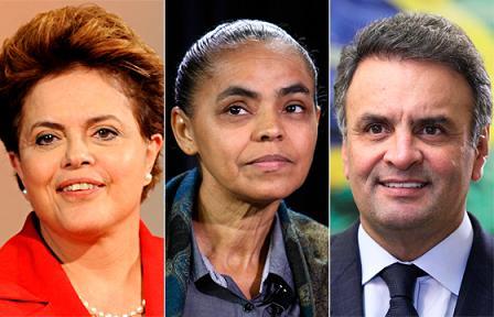 Dilma, Marina e Aécio