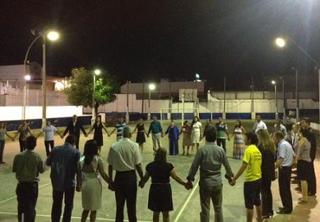 Pastores  evangélicos se uniram em uma corrente de oração