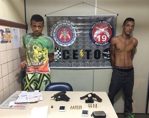 Dois elementos presos durante abordagem dos policiais da CETO