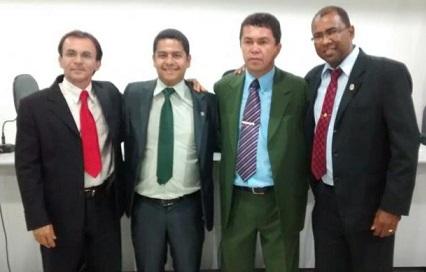 Mesa diretora eleita em 3 de julho: José Wanderley (PT), vice presidente; Emanoel Campos Tinho (PV), 2º secretário; Eliezer Pereira Fiim (PDT) presidente e Soldado Gilvan Santana (PTdoB), 1º secretário