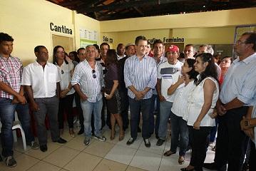 O colégio de Planaltino  é o nono colégio visitado por Rui Costa desde o início da gestão.  Fotos: Mateus Pereira/GOVBA