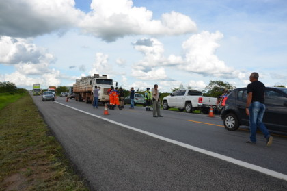Professor foi atropelado por carreta na BR 116 (foto Blog do Anderson)