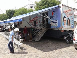 Carreta do SAC Móvel estará funcionando na Praça da Bandeira em Jequié