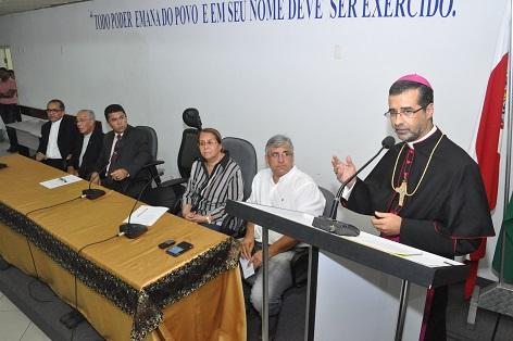 Dom José Ruy, Bispo Diocesano destacou a importância da sociedade no combate à corrupção