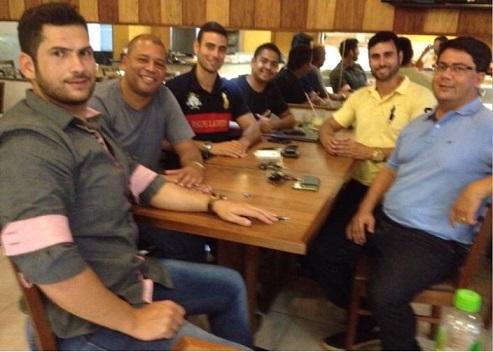 Dr. Fernando (PV) em encontro com Marcel Rodeiro (PSC). Ambos prefeituráveis