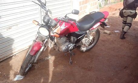 Moto estava em poder de um menor  (foto 19º BPM)