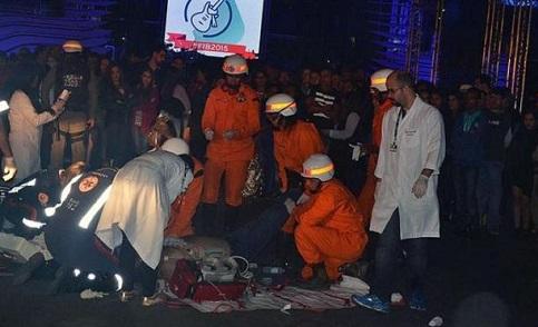 Homem foi socorrido no local mas não resistiu (foto Blog do Marcelo)
