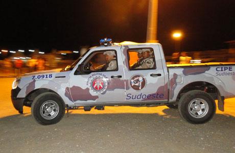 Quatro viaturas com policiais militares da CPE Sudoeste já estão trabalhando em Jequié