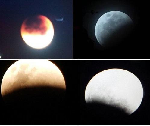 Quatro aspectos do fenômeno visto e fotografados em Jequié