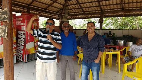 Diretor Sindical Josafá Oliveira (Tatu), ao lado dos diretores Maia e Popó agradeceu a presença dos radialistas