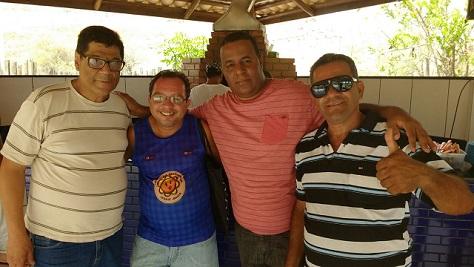 Wilson (93 FM), Domingos Ailton (Sinjorba), Elton Bispo (Cidade Sol) e o diretor Repórter Tatu