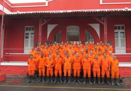 Integrantes do Grupamento de Bombeiros em Jequié