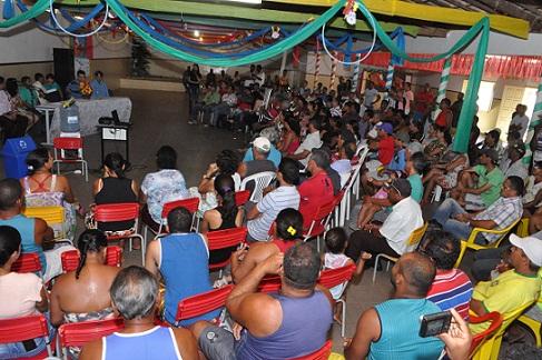 Muitos moradores estiveram presentes à reunião no distrito de Porto Alegre
