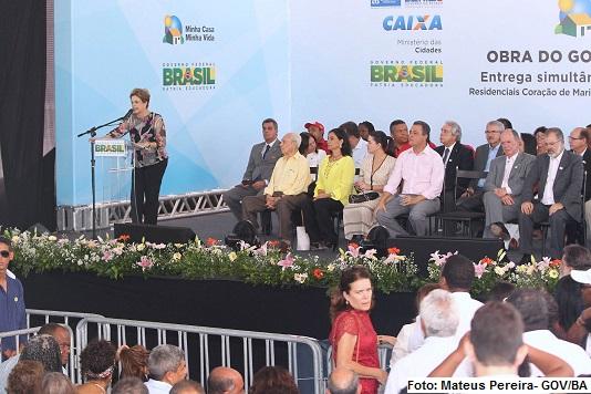 A presidente Dilma Rousseff discursou na entrega de unidades do Minha Casa Minha Vida