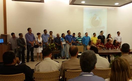 Representantes dos órgãos de imprensa foram homenageados pelos paroquianos de Sto. Antônio