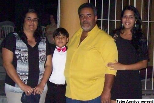 Aloísio Rocha com a esposa Sílvia e filhos