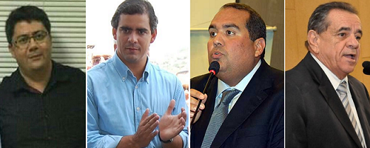 Dr. Fernando com apoio dos deputados estaduais Leur Jr., Sandro Régis e Euclides Fernandes