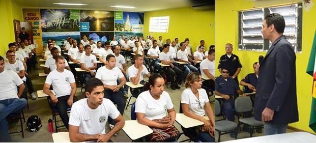Elivânio Maciel coordenador da Academia Nacional de Guardas Municipais, proferiu aula inaugural