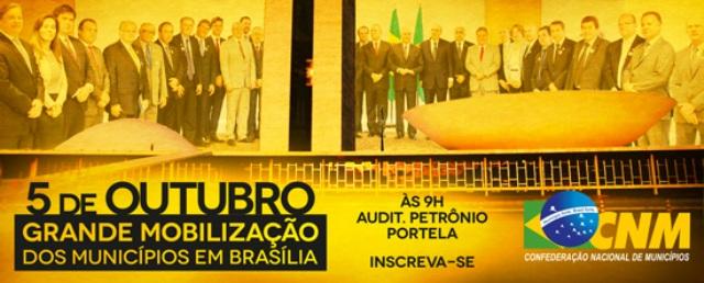 Cartaz de convocação para a mobilização em Brasília três dias após as eleições