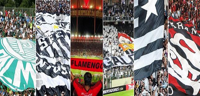 Palmeiras, Santos, Flamengo, Atlético-MG, Botafogo e Atlético-PR nas seis primeiras colocações