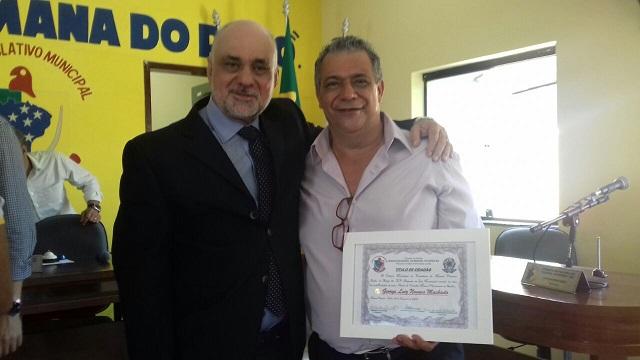 Gerente do BNB em Jequié Jonas Sala prestigiou a homenagem ao colega George Machado