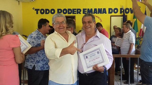 Vereador Olavo Meira propôs o título de Cidadão ao bancário George Machado