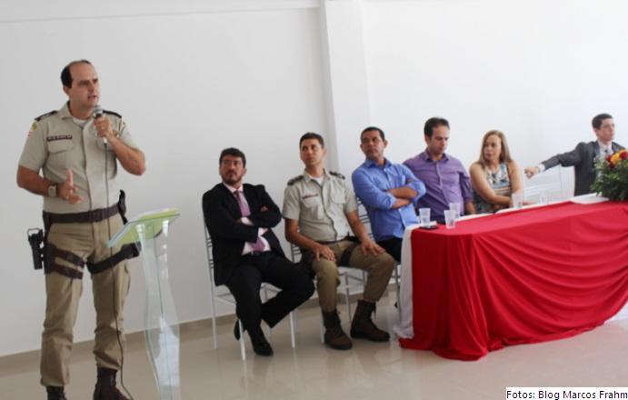 Ten Cel Mota Lima do 19º BPM presidiu a solenidade em Jaguaquara