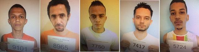 Cinco fugitivos do presídio de Jequié