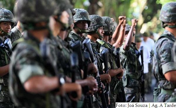 A revista nas celas pelos homens do Exército, da Marinha e da Aeronáutica terá como objetivo a busca de armas e drogas