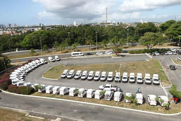 Lote de ambulâncias adquiridas pelo estado através de emendas dos deputados