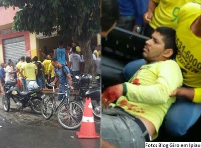 Danilo foi baleado no local de trabalho e transferido para o hospital de Jequié