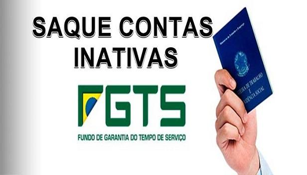 Saque contas inativas FGTS