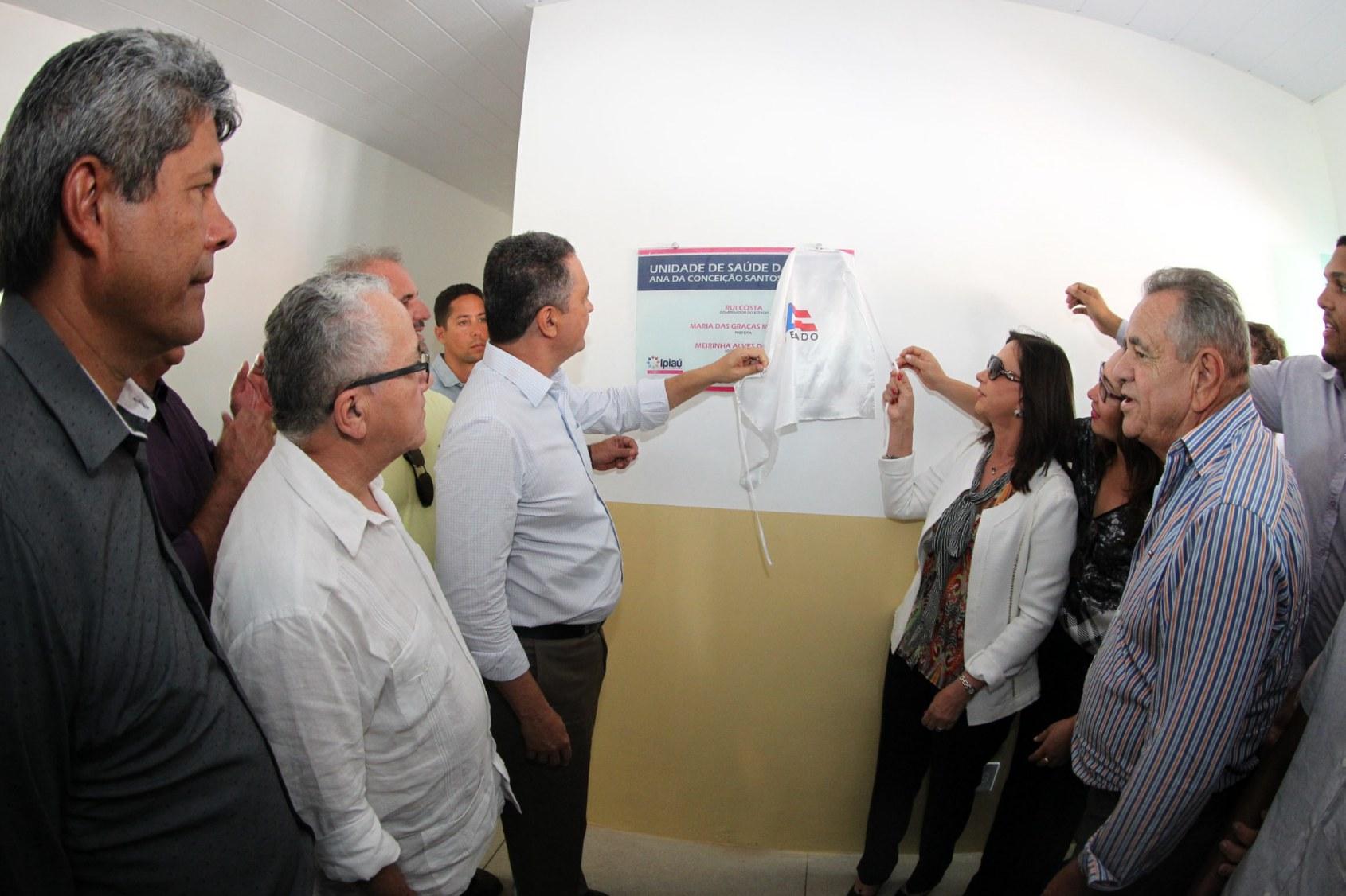 Rui costa inaugurou no bairro Irmã Dulce  a Unidade Básica de Saúde Dona Ana.