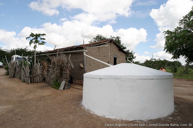 Indicação para duplicar capacidade de armazenamento de água no interior