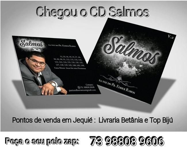 Pastor Edher Ramos lança CD com narração de Salmos
