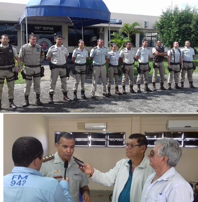 Comando do 19º BPM promove encontro com a imprensa de Jequié