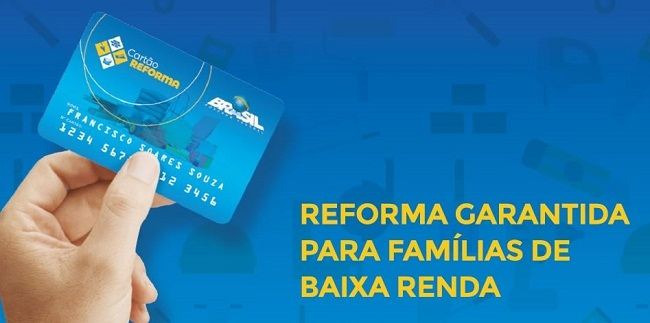 Cartão Reforma se destina a ampliação e conclusão de moradias